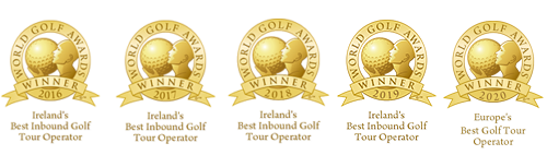 Voted Europe's Best Golf Tour Operator 2020 and  5 time winner of Ireland's Best Inbound Golf Tour Operator